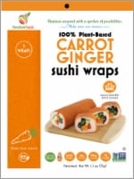 NewGem Foods Carrot Ginger Sushi Wraps
