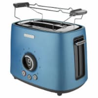 Sencor 2-Slot Toaster with Digital Button and Rack - Blue
