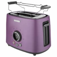 Sencor 2-Slot Toaster with Digital Button and Rack - Violet
