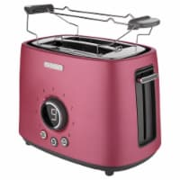Sencor 2-Slot Toaster with Digital Button and Rack - Red
