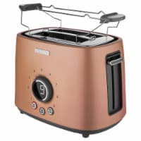 Sencor 2-Slot Toaster with Digital Button and Rack - Gold