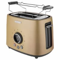 Sencor 2-Slot Toaster with Digital Button and Rack - Champagne