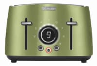 Sencor 4-Slot Toaster with Digital Button and Rack - Light Green