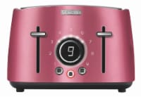 Sencor 4-Slot Toaster with Digital Button and Rack - Red