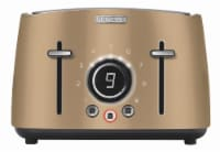 Sencor 4-Slot Toaster with Digital Button and Rack - Champagne