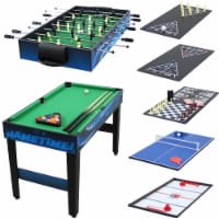Sunnydaze 10-in-1 Multi-Game Table - Billiards Foosball Hockey Pool Air Hockey - 1 billboard table
