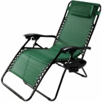 Sunnydaze Oversized Zero Gravity Lounge Lawn Chair and Cup Holder - Forest Green - 1 unit(s)