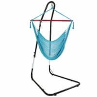 Sunnydaze Caribbean Extra-Large Hammock Chair w/ Adjustable Stand - Sky Blue