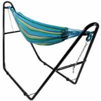 Sunnydaze 2-Person Brazilian Cotton Hammock with Universal Stand - Sea Grass - 1 Brazilian hammock