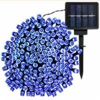 Sunnydaze 200-Count Blue LED Solar Powered Fairy String Lights - 68' Strand - 1 string of solar lights