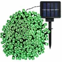 Sunnydaze 200-Count Green LED Solar Powered Fairy String Lights - 68' Strand - 1 string of solar lights