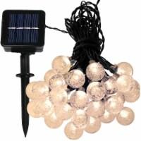 Sunnydaze 30-Count Warm White Globe LED Fairy Solar-Powered 20' String Lights