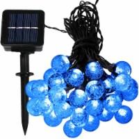 Sunnydaze 30-Count Blue Globe LED Solar-Powered String Lights - 20' Strand - 1 string of solar lights