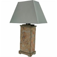 Sunnydaze Indoor-Outdoor Decorative Natural Slate Table Lamp -Electric - 24""
