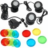 Sunnydaze Submersible Electric Light Kit with Transformer - 3-Pack LED Lights