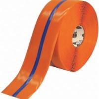 Mighty Line Ind Floor Tape,Roll,Orange/Blue,Vinyl HAWA 4ROBCTR