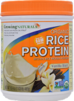 GrowingNaturals Vanilla Blast Organic Rice Protein Powder - 16.4 oz