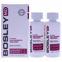 Hair Regrowth Treatment Regular Strength by Bosley for Women - 2 x 2 oz Treatment - 2 x 2 oz