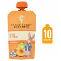 Peter Rabbit Organics Apple & Peach Puree Pouch - 10 ct  / 4 oz