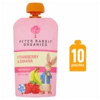 Peter Rabbit Organics Strawberry & Banana Baby Food Pouch - 10 ct / 4 oz