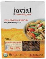 Jovial  Organic Einkorn Fusilli Whole Wheat Pasta