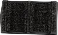 GrassWorx Clean Machine Shoe- and Boot-Scraping Doormat - Black