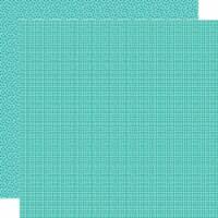 Bella Besties Graph/Dot Double-Sided Cardstock 12 X12 -Gulf - 1