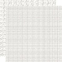 Bella Besties Graph/Dot Double-Sided Cardstock 12 X12 -White - 1