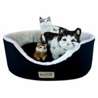 Aeromark C04HML-MB Armarkat Pet Bed Cat Bed 22 x 19 x 8 - Laurel Green & Ivory - 1