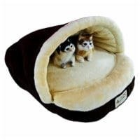 Aeromark C05HKF-MH Armarkat Pet Bed Cat Bed 22 x 16 x 12 - Mocha & Beige - 1