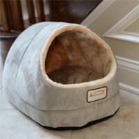 Aeromark C18HHL-MH Armarkat Pet Bed Cat Bed 18 x 12 x 14 - Sage green & Beige