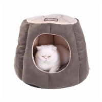 AeroMark C30HML-MH Armarkat Cat Bed, Laurel Green and Beige C30HML-MH