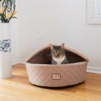 AeroMark C33HFS-FS-M Armarkat Cat Bed, Medium, Light Apricot C33HFS-FS-M