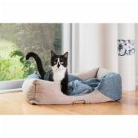 AeroMark International D07B Armarkat Pet Bed, Memory Foam - Beige & Ivory