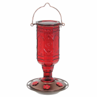 More Birds Red Jewel Hummingbird Feeder - Red