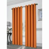 Kashi Home CP051386 54 x 84 in. Tessa Grommet Blackout Curtain, Orange - 1