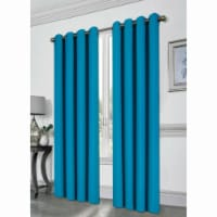 Kashi Home CP051393 54 x 84 in. Tessa Grommet Blackout Curtain, Turquoise - 1