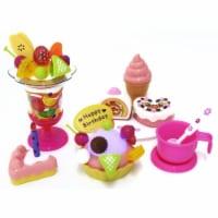 AZImport PS730 Play Food Set with Cupcake, Cakes, Ice Cream & Sundae