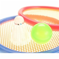 AZImport PS933G Badminton & Tennis Play Set with Easy to Grip Colorful Rackets - 1