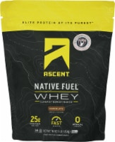 Ascent Native Fuel Chocolate Whey Protein Powder Blend - 16 oz