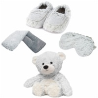 Warmies Bear Scented Plush Sleep Set - Gray - 1 ct