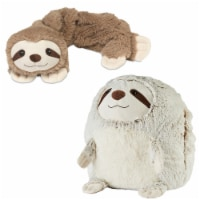 Warmies Sloth French Lavender Scented Handwarmer with Neck Wrap Set