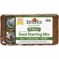 Burpee 8 Qt. 1-1/2 Lb. Concentrated Brick In-Ground Organic Seed Starting Mix - 1