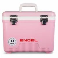 Engel 13 Quart Compact Durable Ultimate Leak Proof Outdoor Dry Box Cooler, Pink - 1 Unit