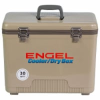 Engel 30-Quart 48 Can Leak-Proof Compact Insulated Airtight Drybox Cooler, Tan - 1 Unit