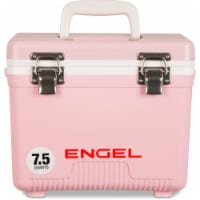 Engel 7.5-Quart EVA Gasket Seal Ice and DryBox Cooler with Carry Handles, Pink