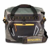 Engel Portable Waterproof Soft-Sided Cooler Bag with Adjustable Strap, Orange