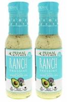 Primal Kitchen Organic Ranch Dressing, Avocado Oil-Based, Vegan & Paleo Approved 8 Oz-2 Pack - 2 Bottles/ 8 Ounce