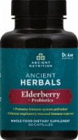 Ancient Nutrition Ancient Herbals Elderberry +Probiotics Capsules 60 Count