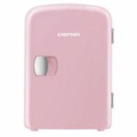 Chefman Mini Portable Personal Fridge - Pink